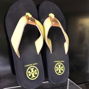 Tory Burch wedge flip flops size 6